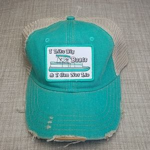 Judith March Distressed Snap Back Hat